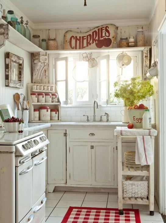 Romantic Country Kitchen Decor 20 inspiring shabby chic kitchen design ideas