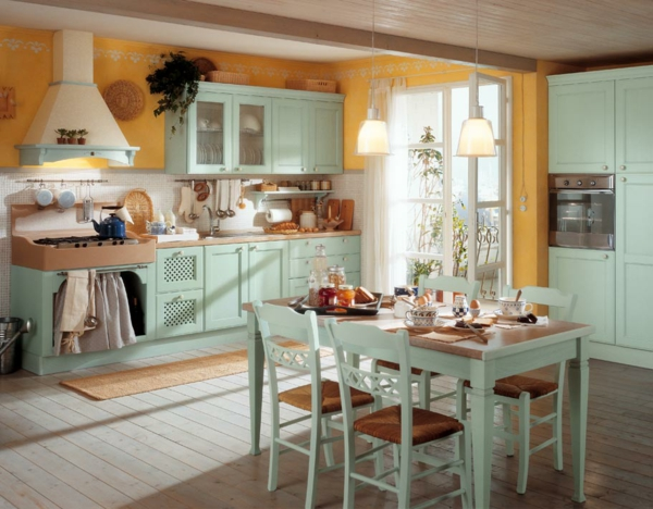 Shabby Chic Kitchens Chairs Pleasant Kitchen