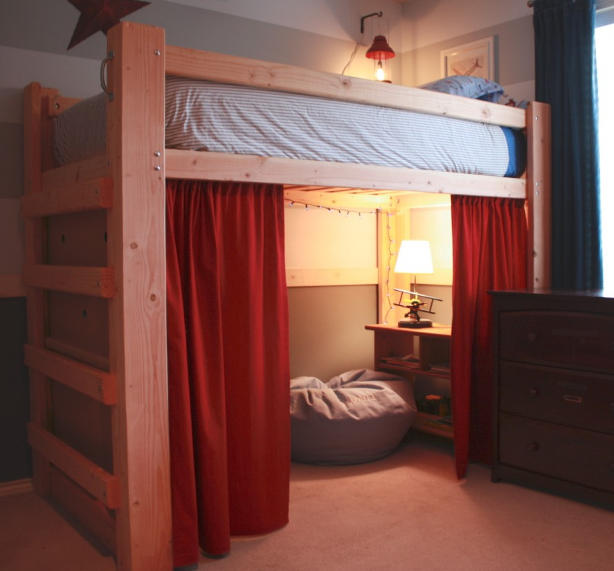 35 modern loft bed ideas for How to make a loft room