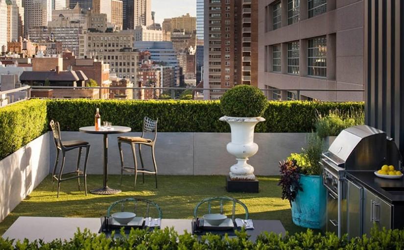Small Rooftop Garden Urban House Design
