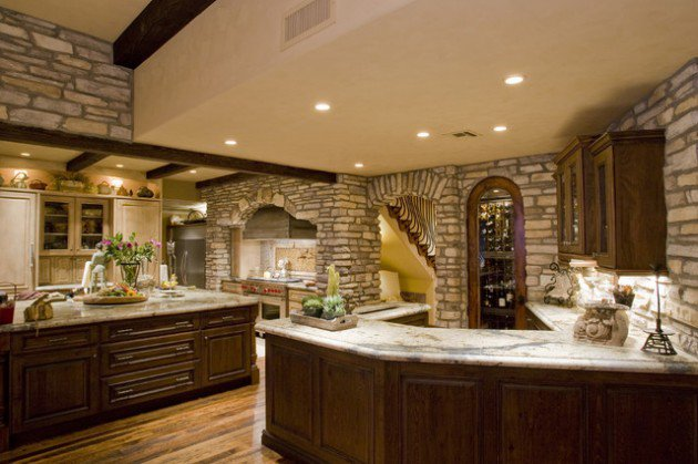 10 Amazing Stone Kitchen Designs For Rustic Look