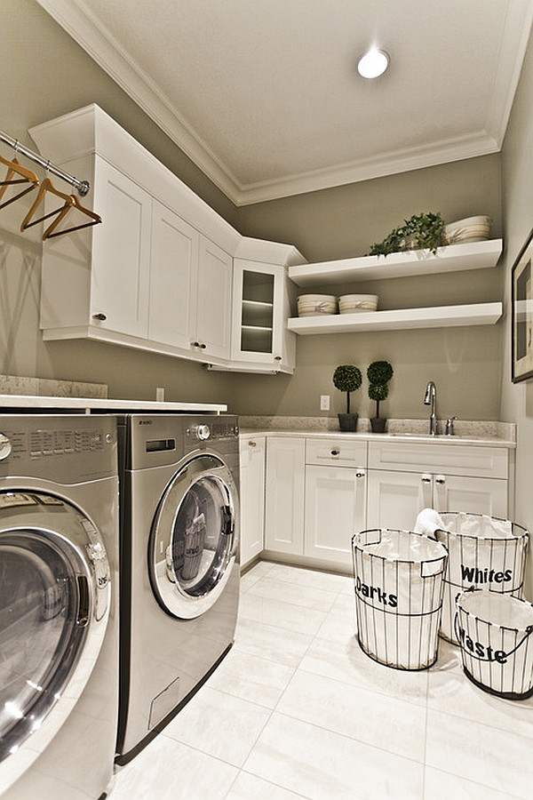 stylish-laundry-room-with-drying-rack