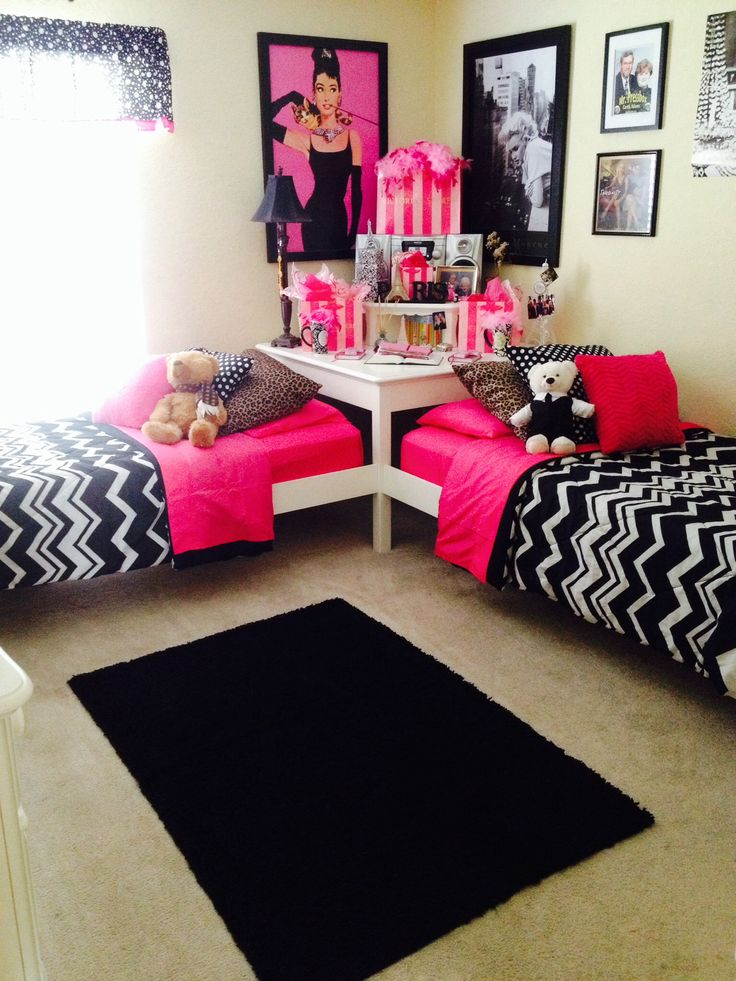 teen-twin-girls-bed-room-ideas-