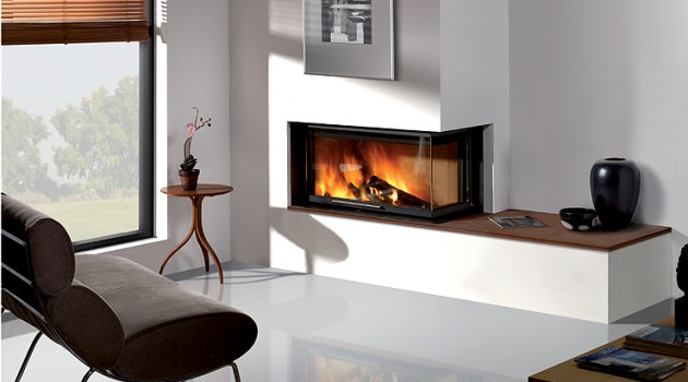ultra modern fire place