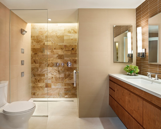21 unique modern bathroom shower design ideas for Modern bathroom tile designs