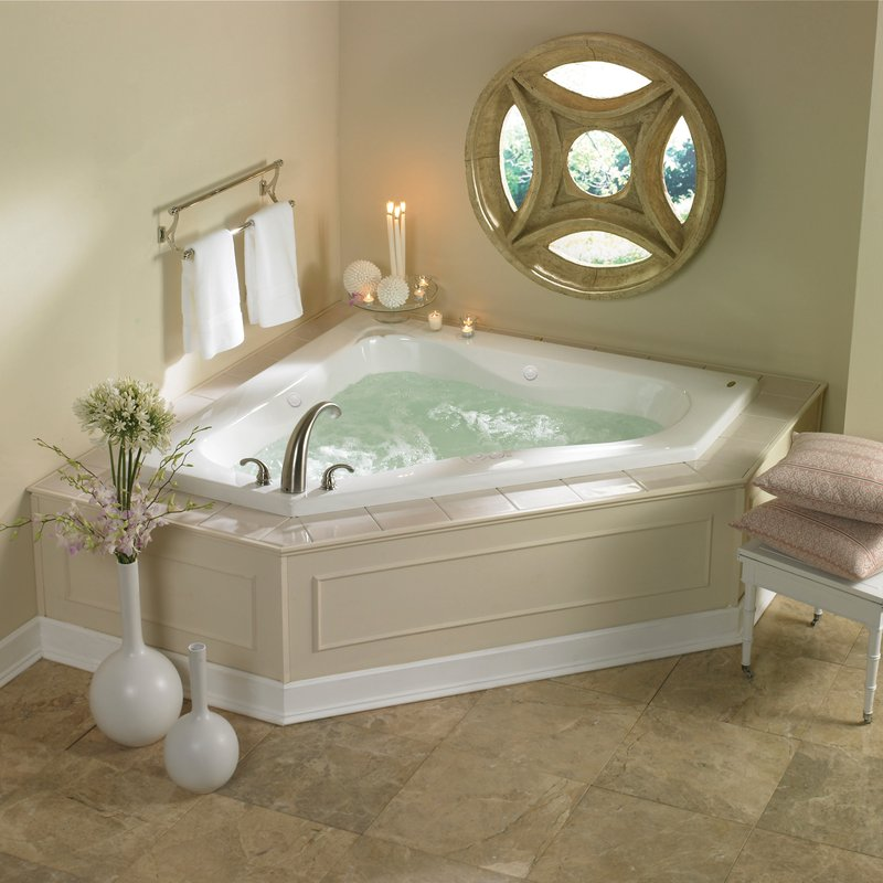 20 beautiful and relaxing whirlpool tub designs - Small whirlpool tub ...