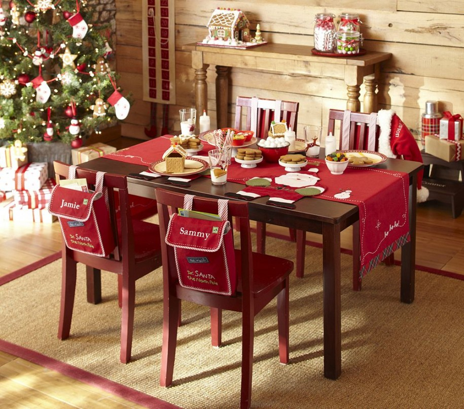 charming dining room ideas with christmas table decoration