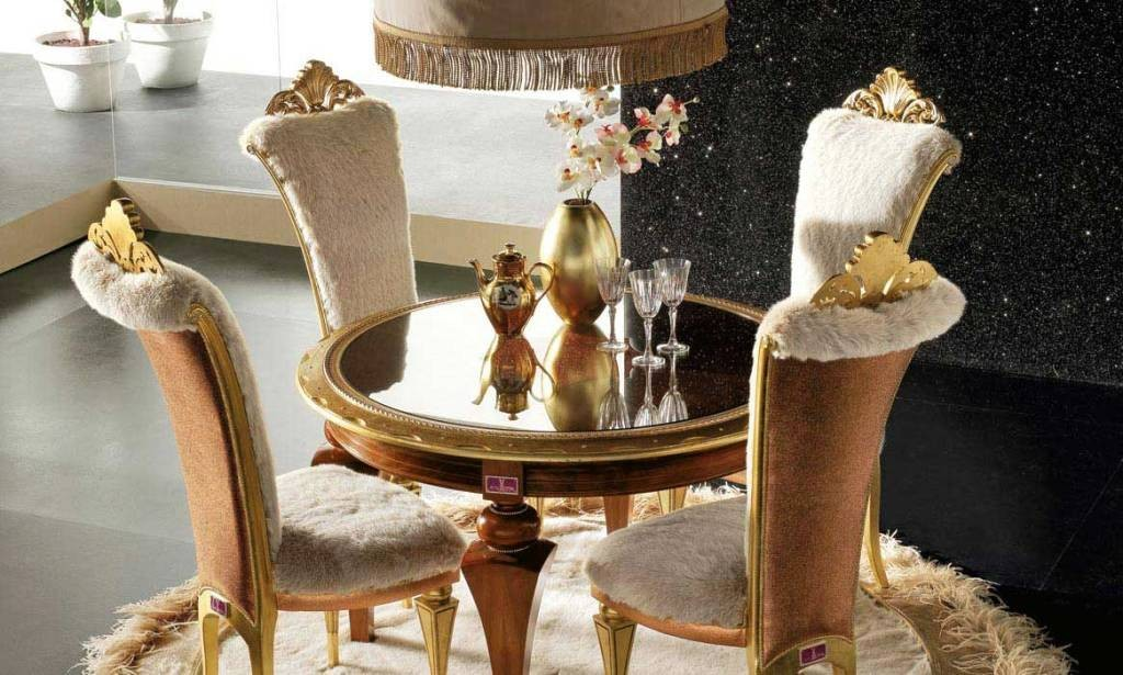 Dining Table Set With Gold Fresh Carpet Elegant