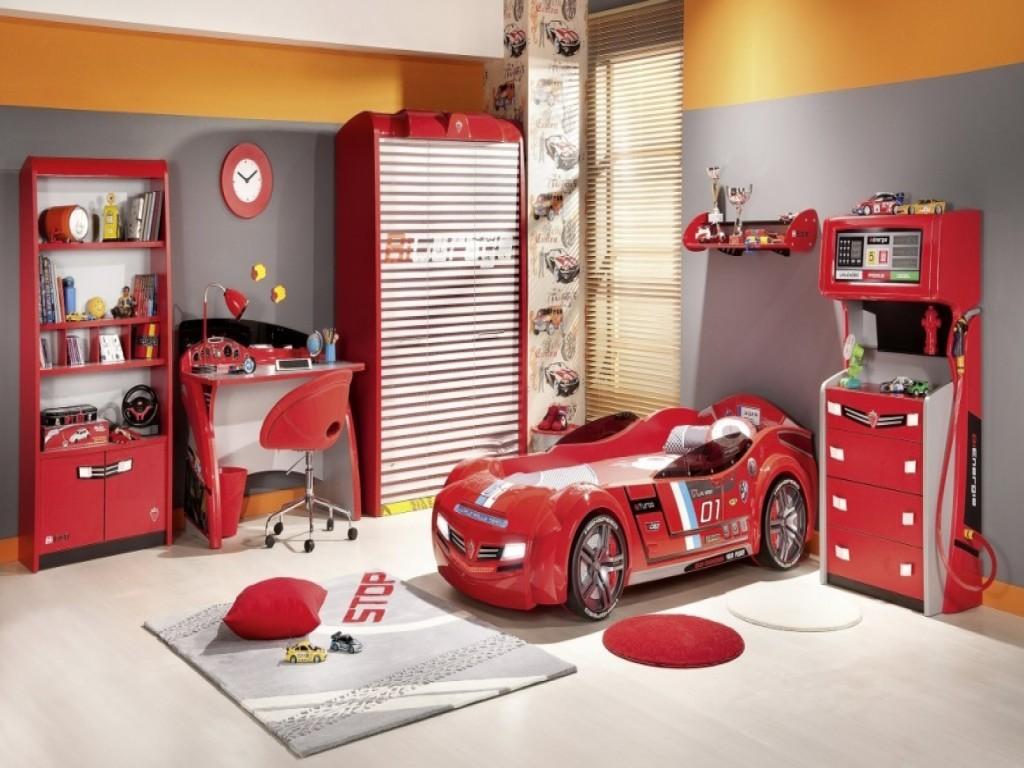 Fascinating-Bedroom-Idea-orange-stylish-boys
