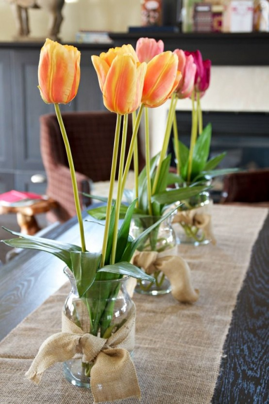 30 vintage flower decoration for spring for Kitchen decoration with flowers
