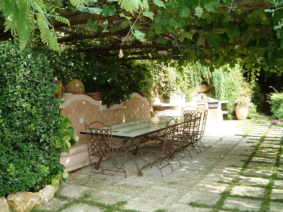 Lovely-Grape-Trellis-decorating-ideas-for-Patio-Mediterranean-design-ideas-with-Lovely-none-