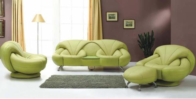 Unique-Green-Leather-Sofas-for-Living-Room-Design-