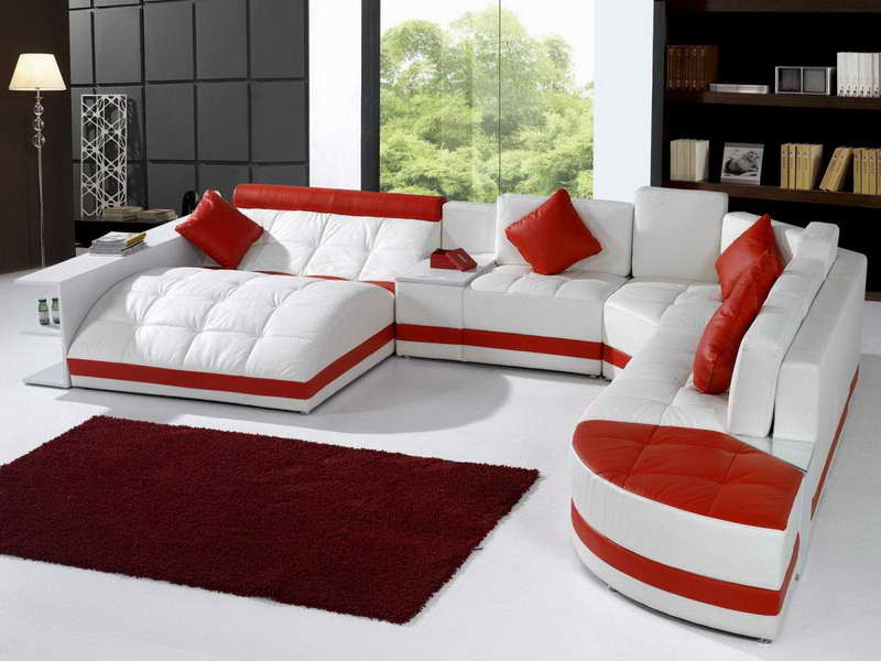marvelous red leather living room furniture | 20 Unique Sofas For A Marvelous Living Room