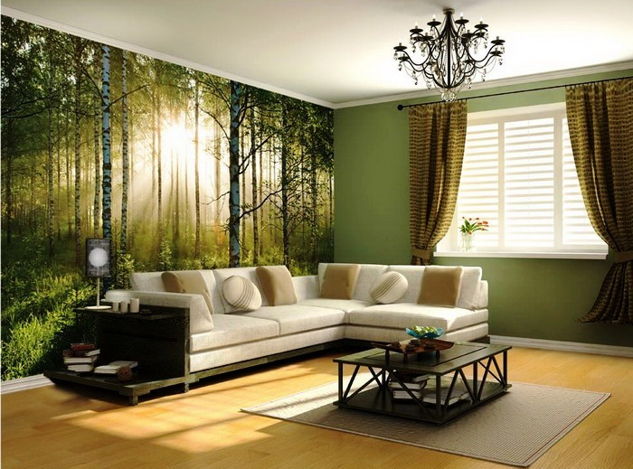 Warm-Forest-Murals-in-Living-Room