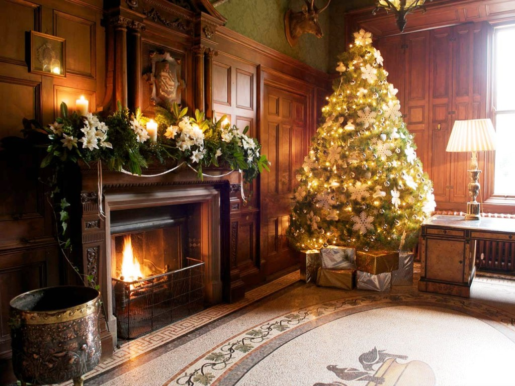 amazing-christmas-fireplace-decorations-on-decor-with-image