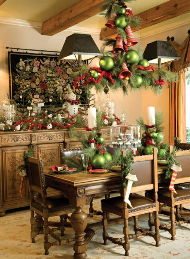 beautiful sharp dining room with jingle belt christmas - Elegant Christmas Dining Room Decorations