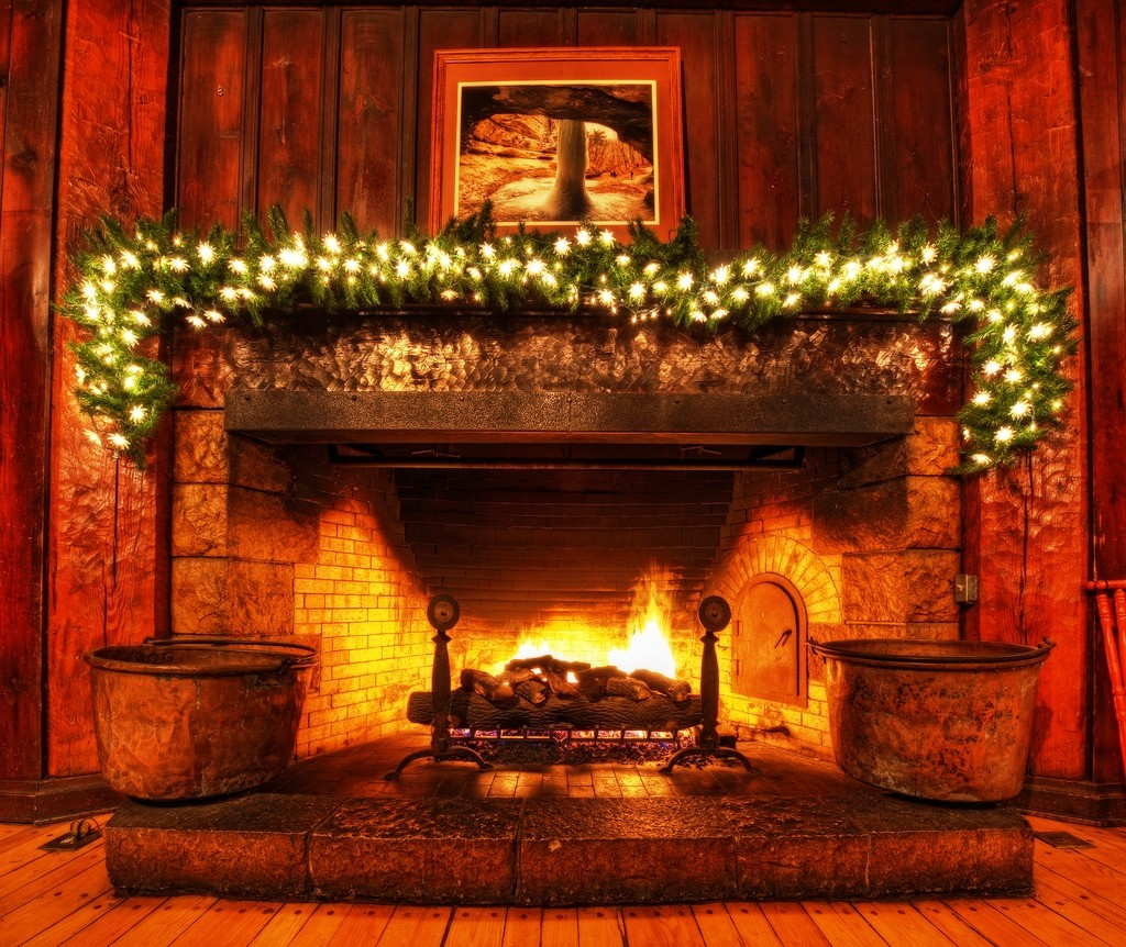 christmas firepalace