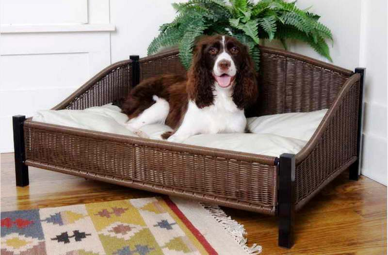 rattan-dog-bed-ideas