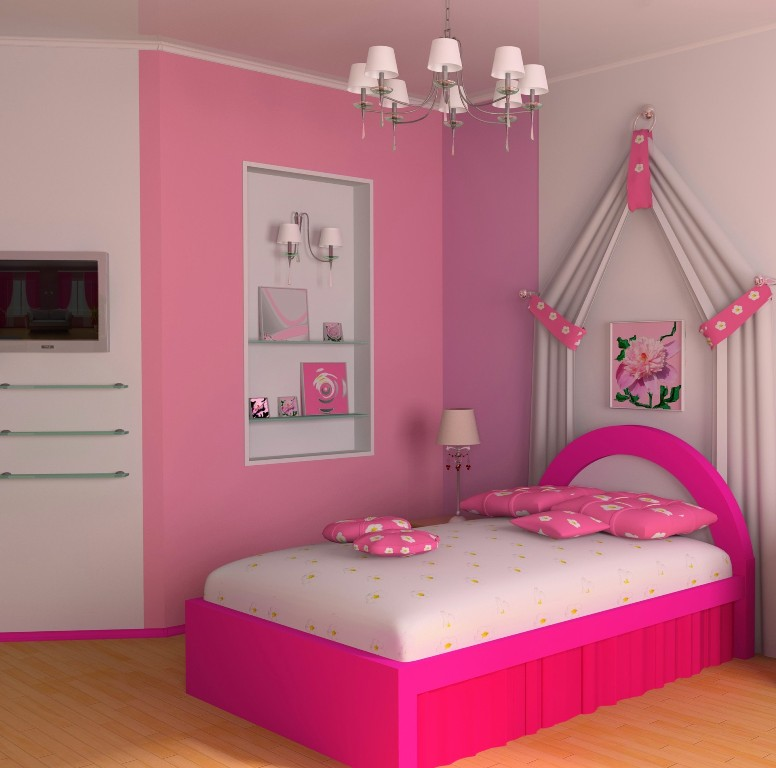 simple-pikn-barbie-themed-teen-girl-bedroom-design-