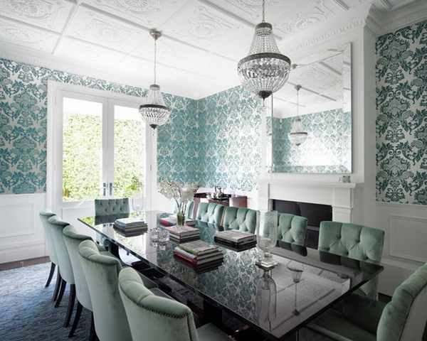 Decorate Beauty Wallpaper Ideas For Formal Dining Room