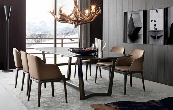 contemporary-dining-room-furniture-table-dining-chairs-antler-chandelier