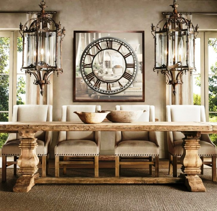 wood-trestle-table-luxury-dining-room-