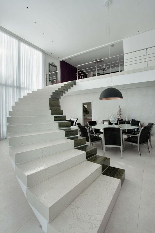 Black & White marble Staircase