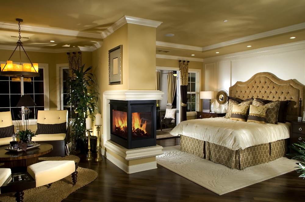 Luxury Master Bedroom Beautiful With Fireplace And Sitting Room Designs