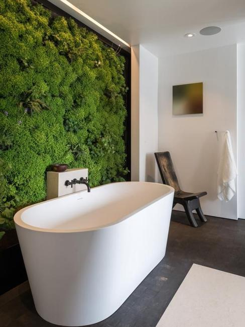 Modern go green bathroom trend.