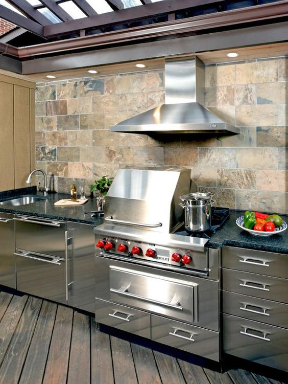 Outdoor kitchen steel