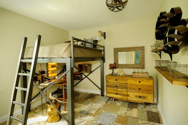 Rustic Modern Boy's Bedroom industrial-kids