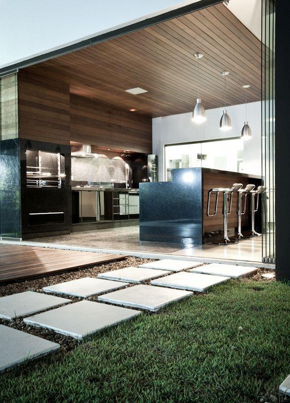 kitchen idea leading unto outdoor terrace
