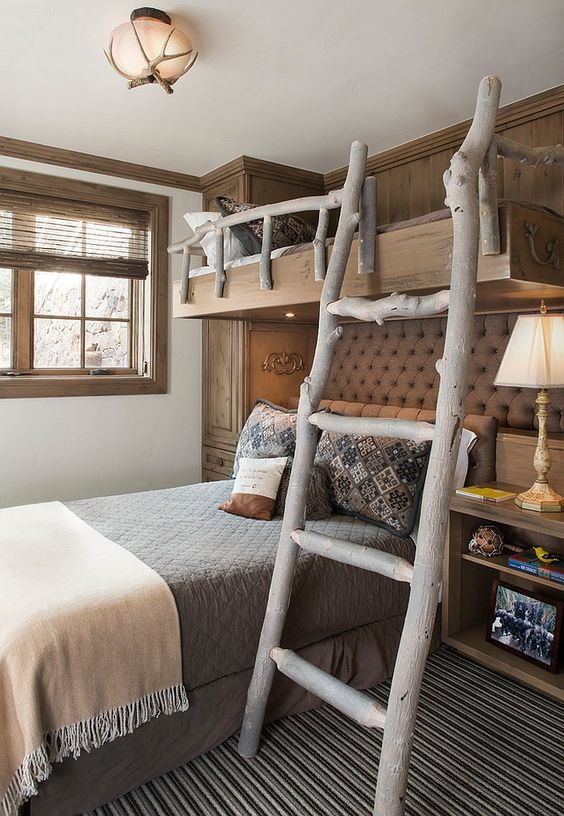 Childrens Bedroom Designs For Small Rooms: 30 Cozy Rustic Kids Bedroom Design Ideas