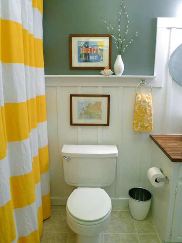 small bathroom wall decor ideas - Small Apartment Bathroom Decorating Ideas