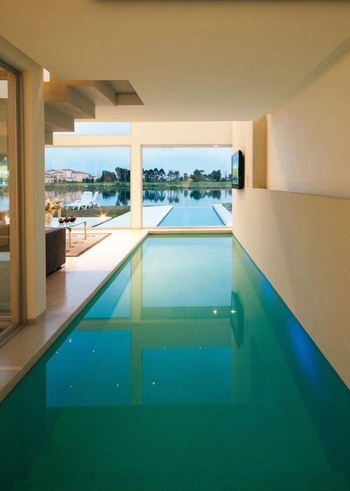 luxurious indoor and outdoor pool