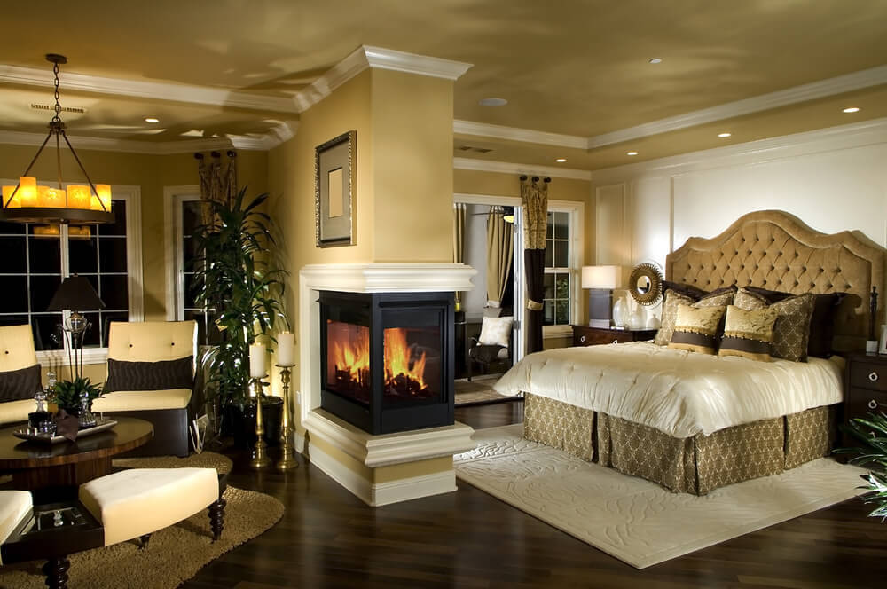 Beautiful Bedroom With Fireplace And Sitting Room. Beautiful Master Bedrooms.  Bedroom Simple Design