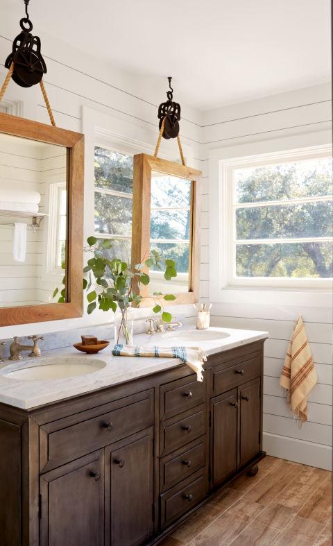 DIY Bathroom Mirrors
