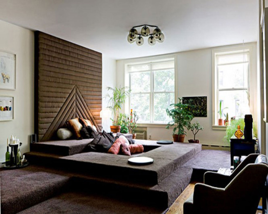 Ideas of living room without sofa