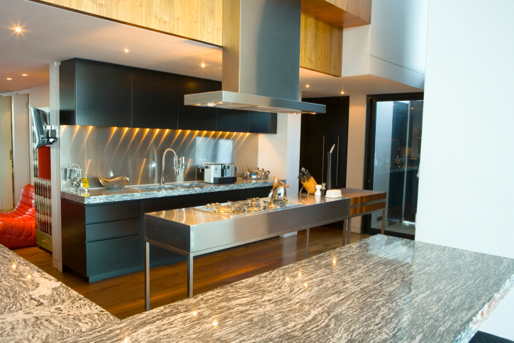 Modern Kitchen With Stainless Steel Island 25 Luxury Kitchen Designs