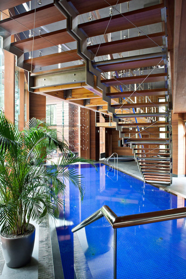 Amazing Indoor Swimming Pool Modern House Near Moscow