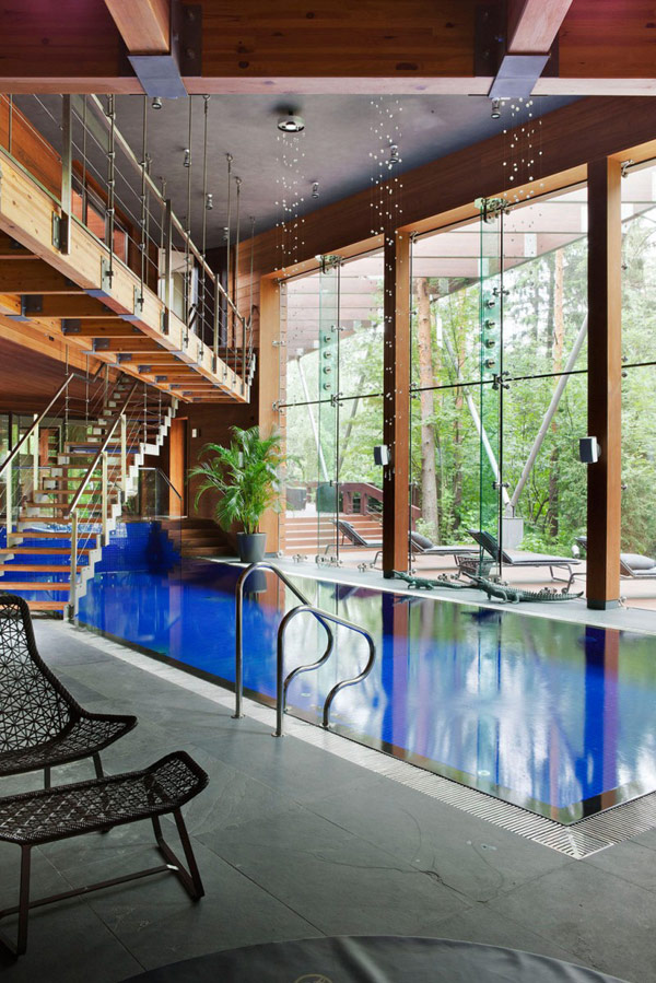 Exciting Sitting Area Near Indoor Pool Modern House Near Moscow