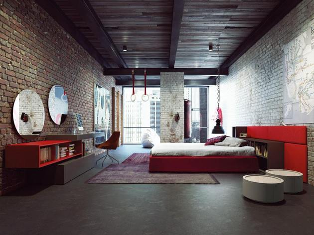 perbelline-arredamenti-interior-design-red-hot-bedroom