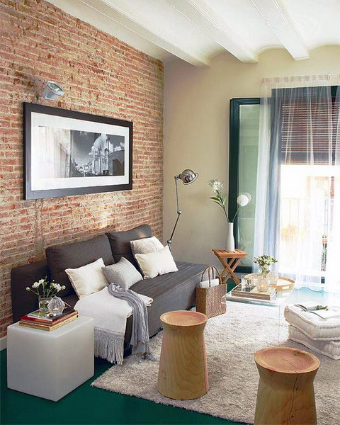 Cool Living Rooms With Brick