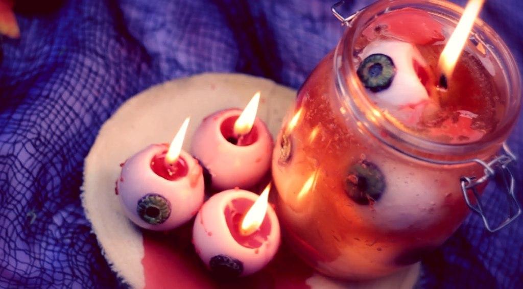 DIY Bleeding Eyeball Candles