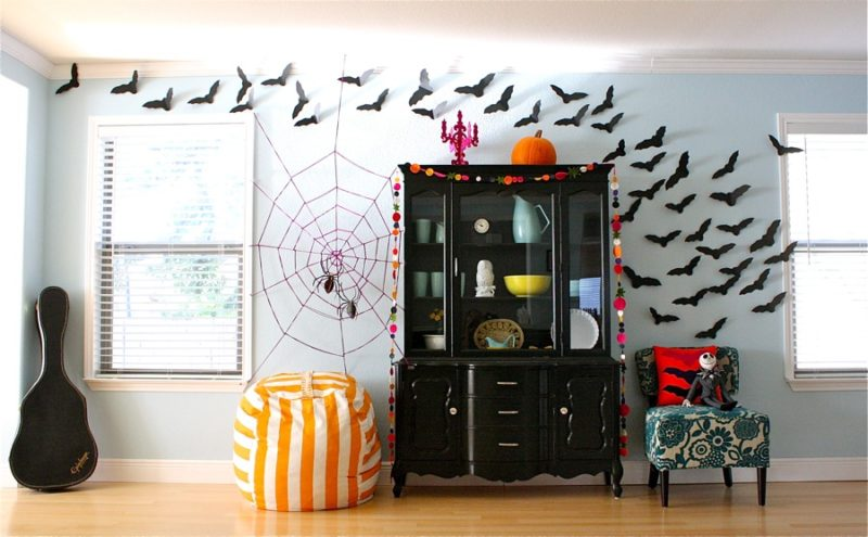 Wall Halloween Spider Web Decoration