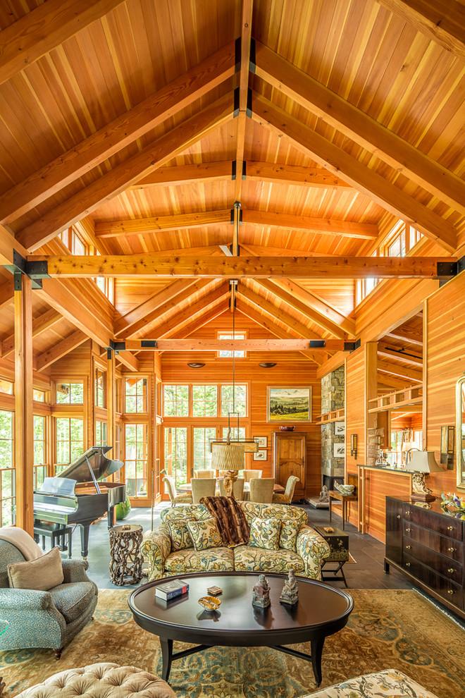 Craftsman Living Room Design