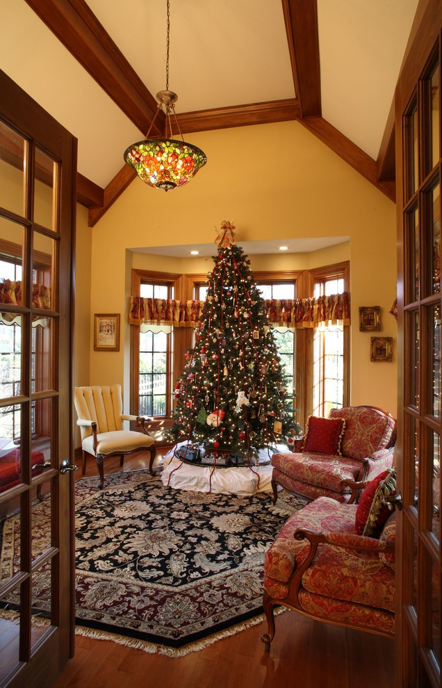 30 best christmas living room decorating ideas for Mission style decorating living room