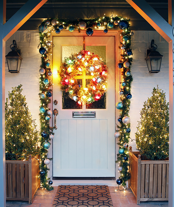 Christmas Decorations Front Door Ideas