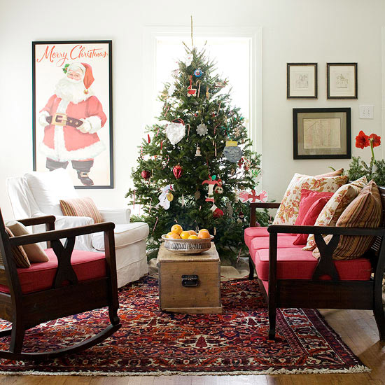 christmas living room decorating ideas 10
