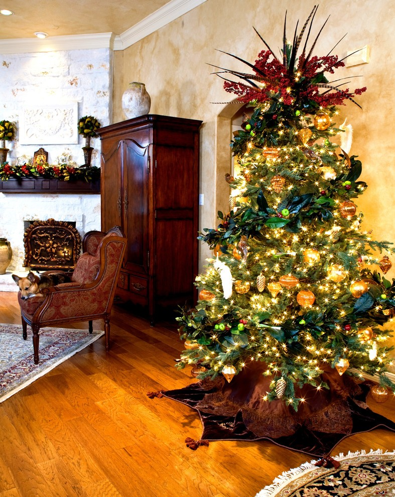 30 best christmas living room decorating ideas - Pictures of decorated living rooms ...